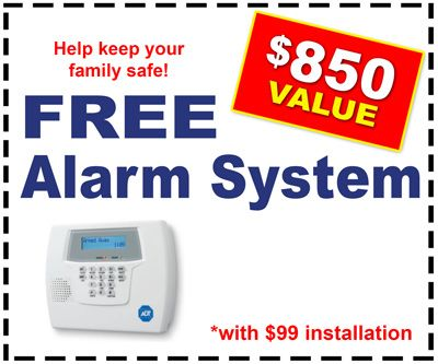Free alarm system in Los Angeles ADT
