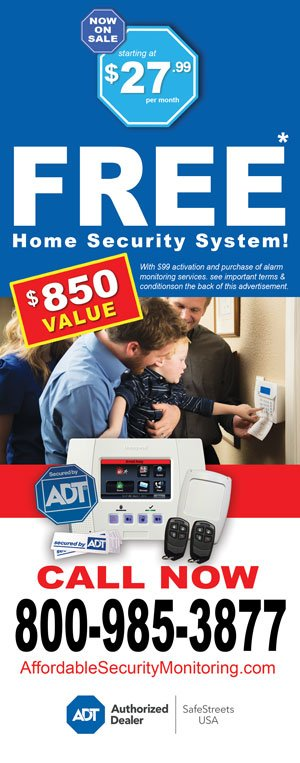 order ADT home security today